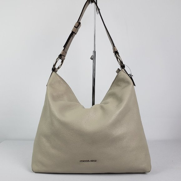 Michael Kors Taupe Grey Leather Purse